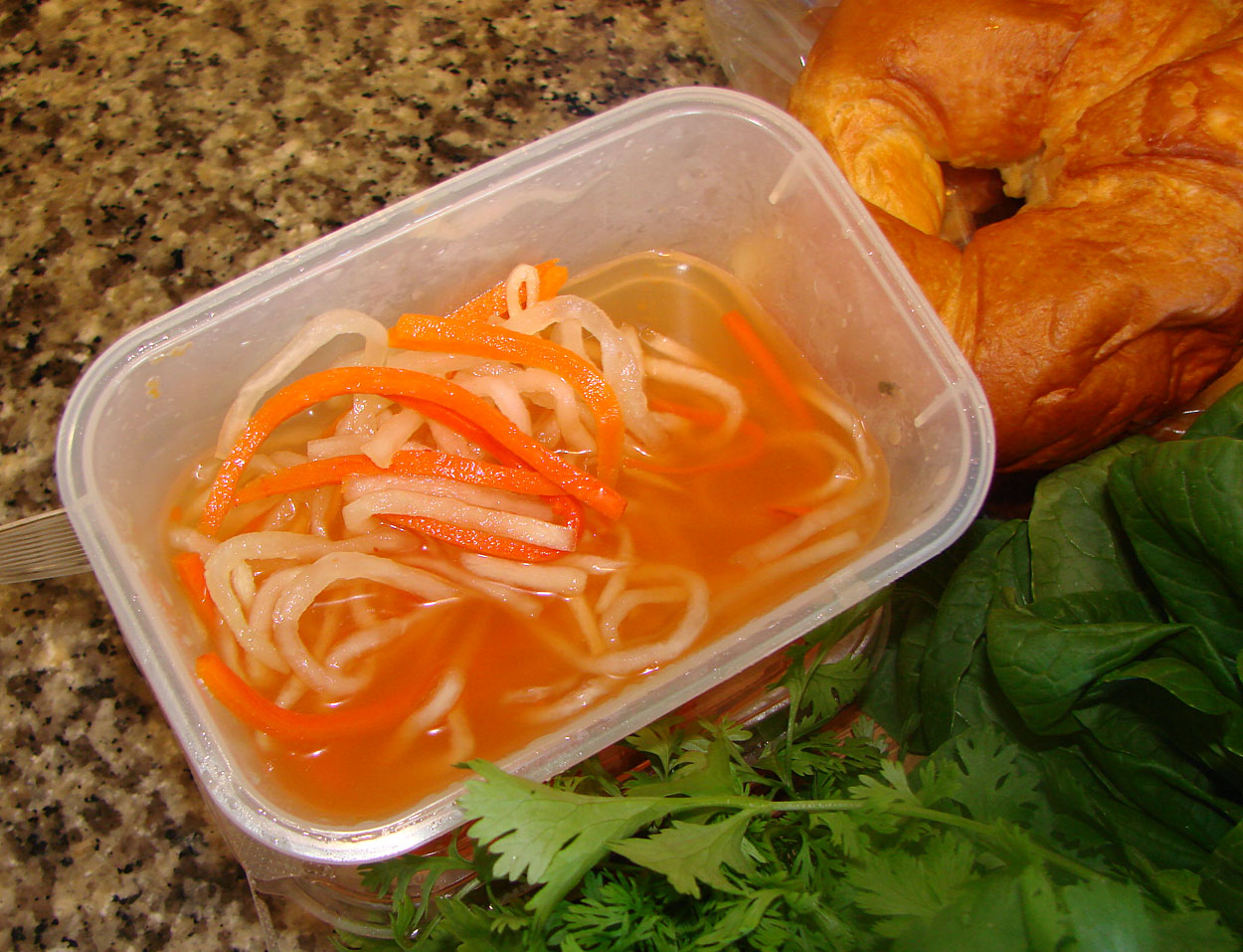 ... Banh Mi, which are the pickled Daikon and Carrots called 'Do Chua