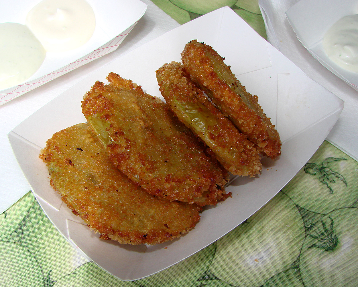 Poi Battered Fish & Fried Green Tomatoes | The Tasty Island