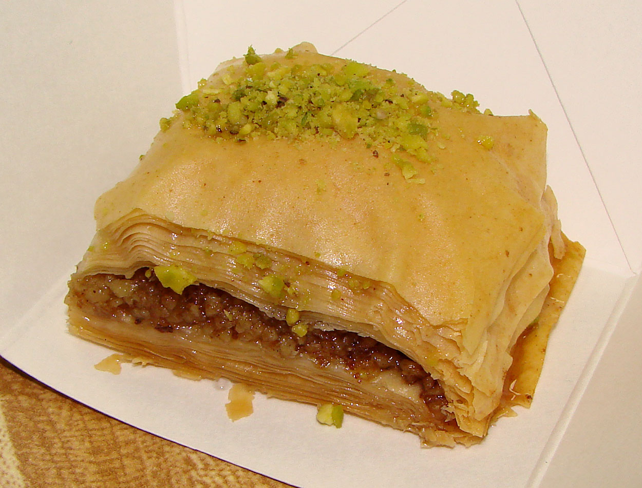... dessert where we end this bash with some bang slam scrumptious baklava