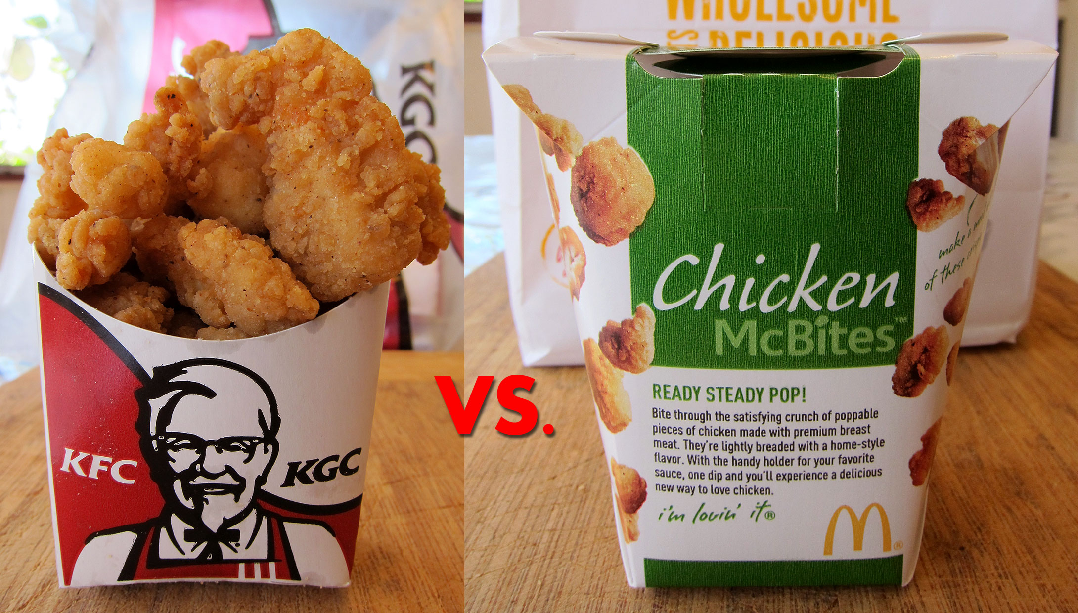 kfc vs mcdonalds Mcdonald's vs kfc range: mcdonald's attention is fundamentally on hamburgers, cheese burgers and broiled chicken and it have a wide range of burgers kfc has a more extensive scope of approaches to get ready chicken kfc does wraps, servings of mixed greens and pieces (ala popcorn chicken) or now and again even pies and kebabs.