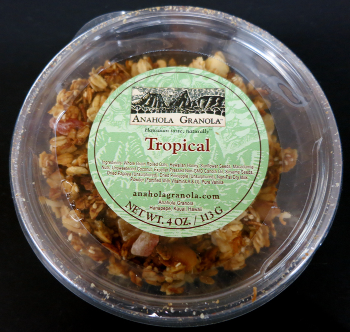 "This is described as ""Tropical Granola is made from sun ripened ..."