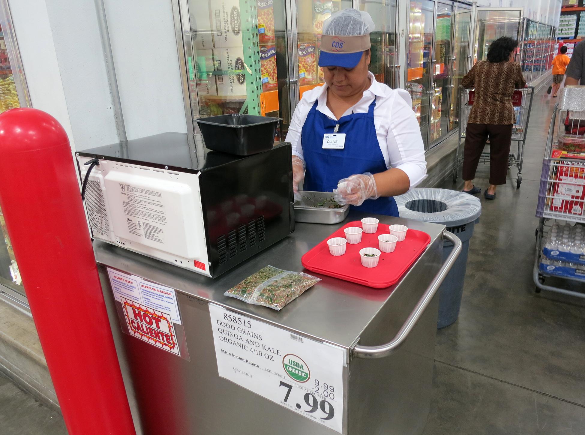 foodie senses taste tasty island da costco sample lady