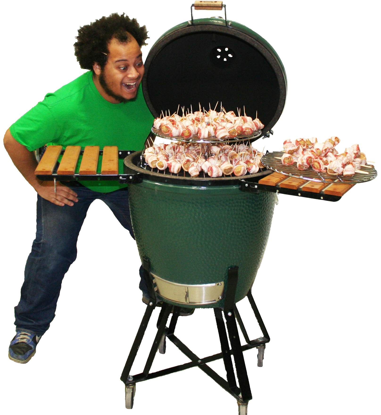 Big Green Egg Outdoor Kitchen: Everything's Mo' Bettah' On Da' Hibachi