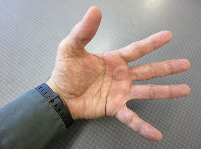 Pomai's hand