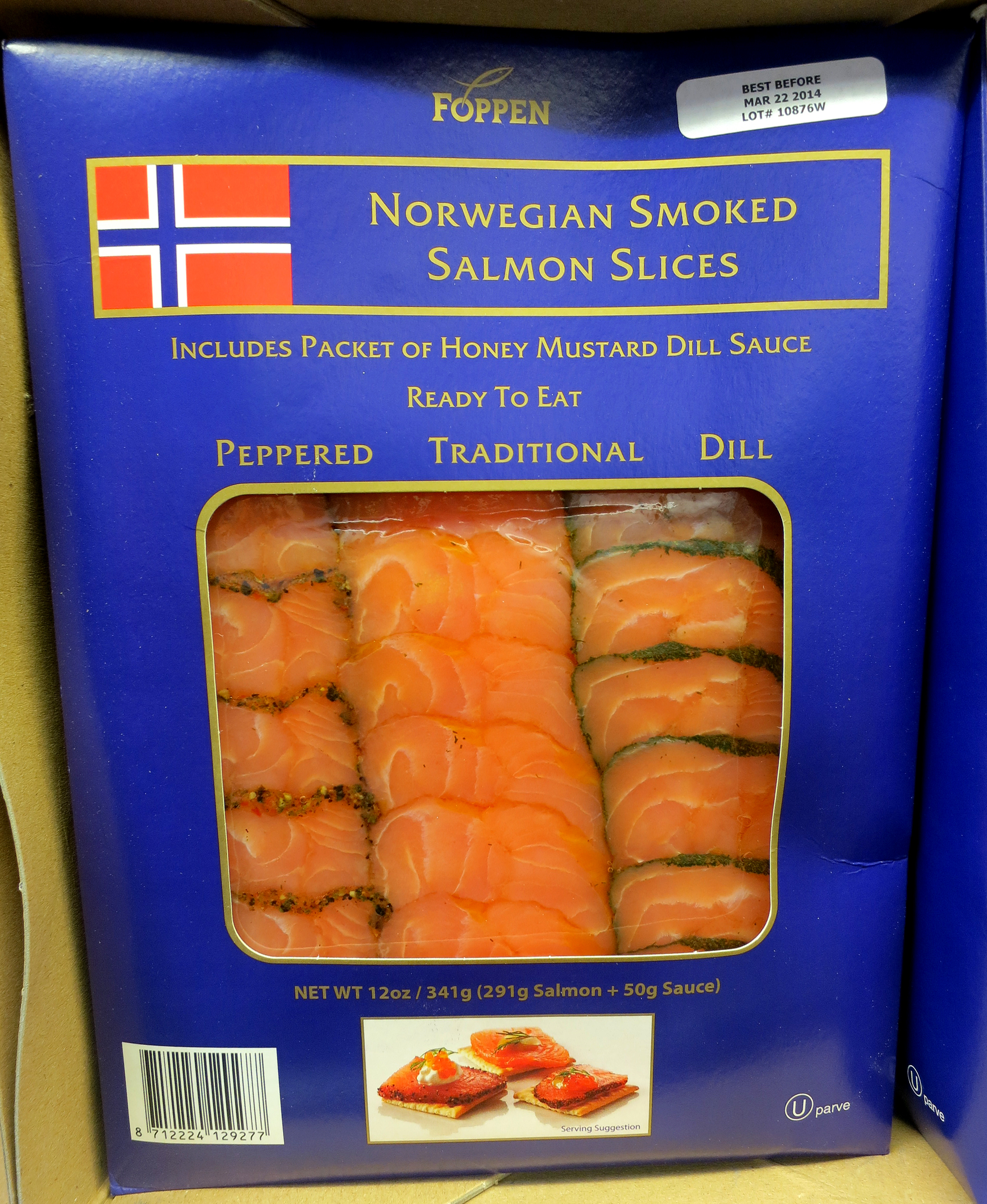 cold smoked salmon package