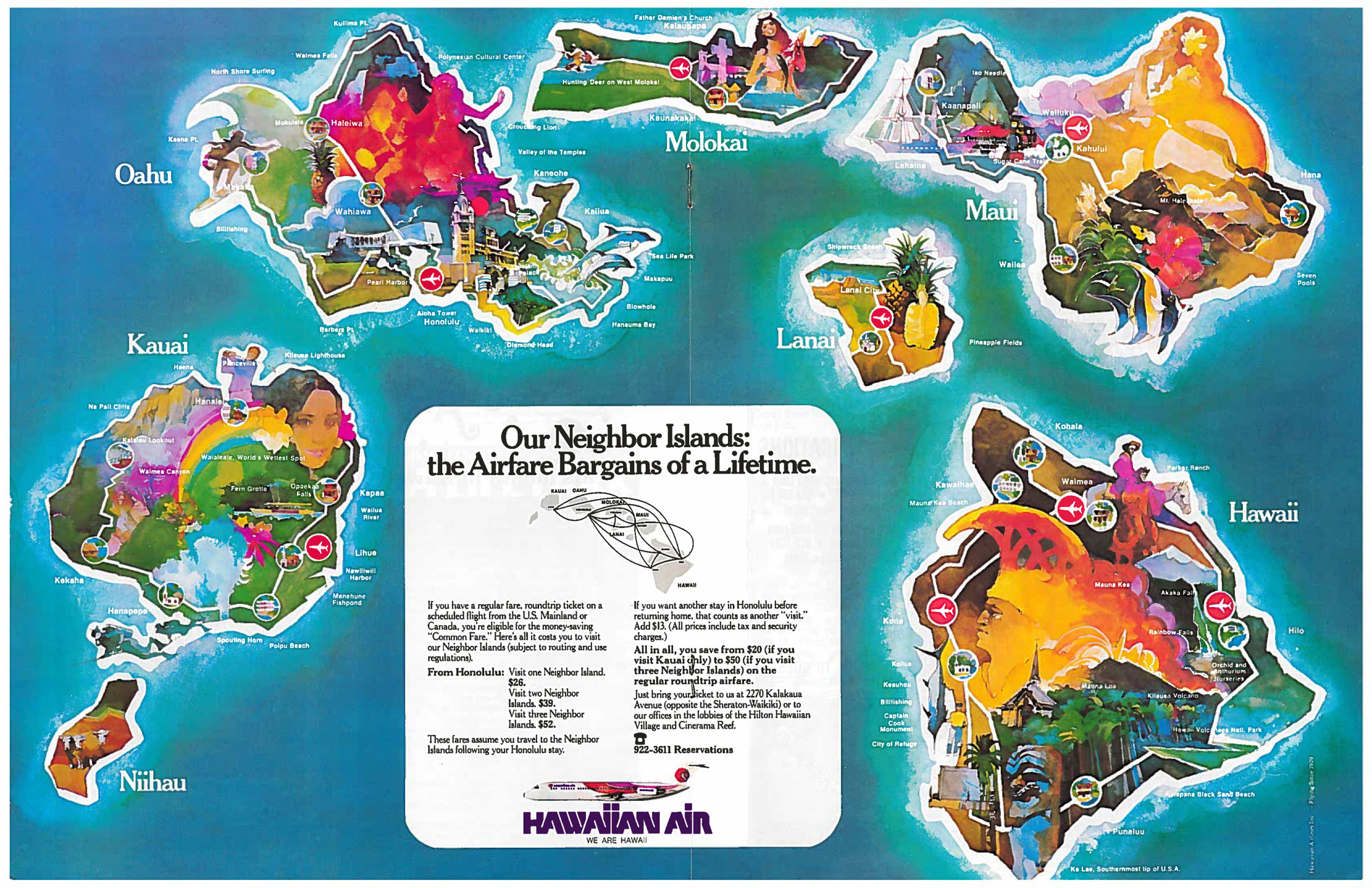 The Waikiki Visitor February 1976 Tasty Island – Oahu Tourist Map