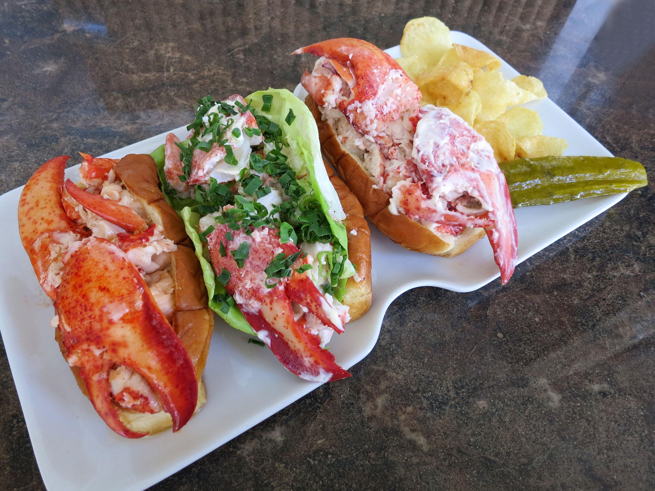 Lobster Roll Mcdonalds Ken Lobster Rolls Left to