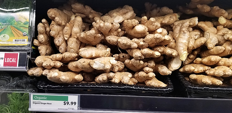 Whole Foods Organic Ginger: $9.99 per pound!