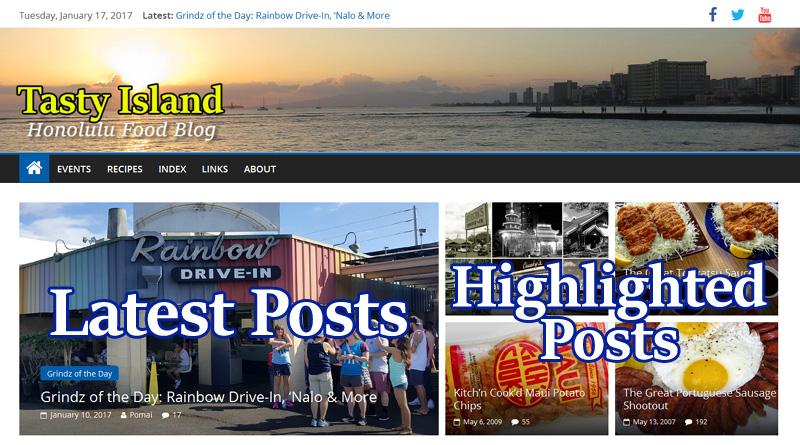 The Tasty Island 2017 Site Design